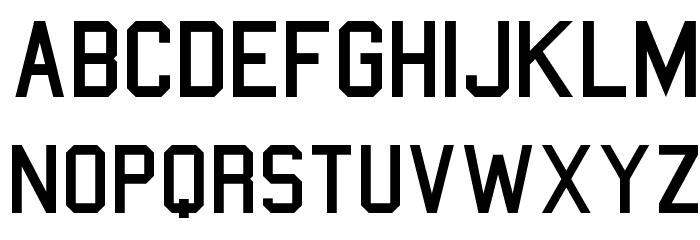 College Font LOWERCASE