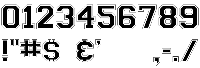 Collegiate-Normal Font OTHER CHARS
