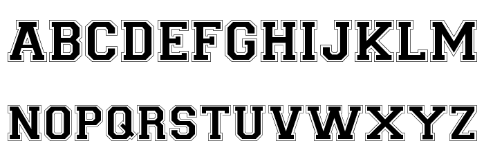 Collegiate-Normal Font UPPERCASE
