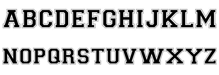 Collegiate-Normal Шрифта строчной