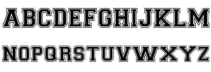CollegiateHeavyOutline Medium Schriftart Groß