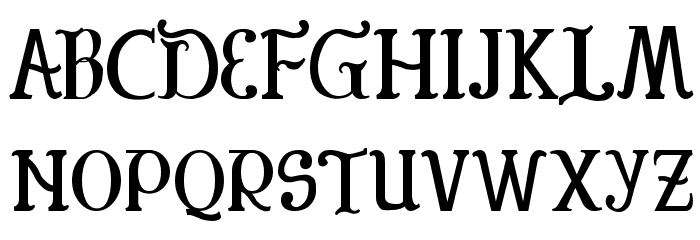 Colonial Font UPPERCASE