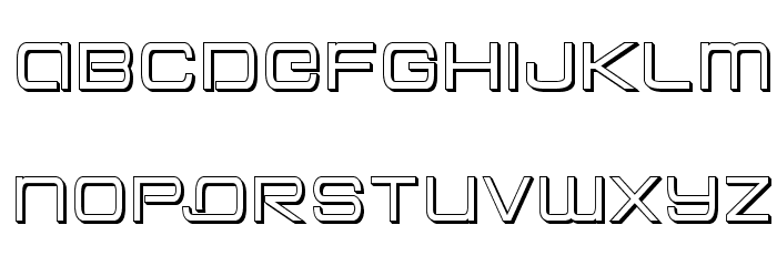 Colony Marines 3D Font LOWERCASE