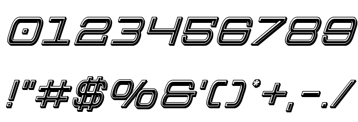 Colony Marines Bevel Italic Font OTHER CHARS