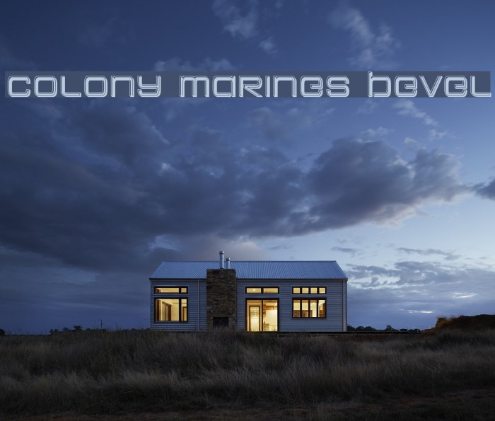 Colony Marines Bevel फ़ॉन्ट examples