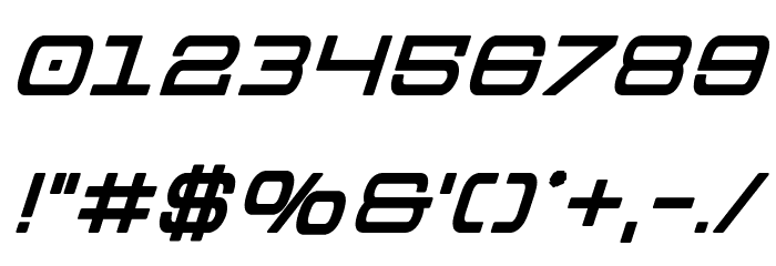 Colony Marines Bold Italic Font OTHER CHARS