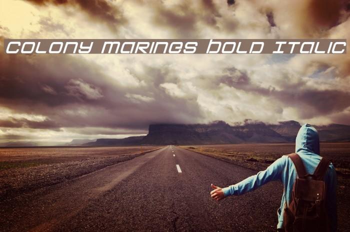 Colony Marines Bold Italic Fonte examples