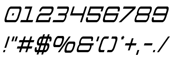 Colony Marines Condensed Italic フォント その他の文字
