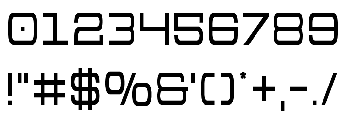 Colony Marines Condensed フォント その他の文字