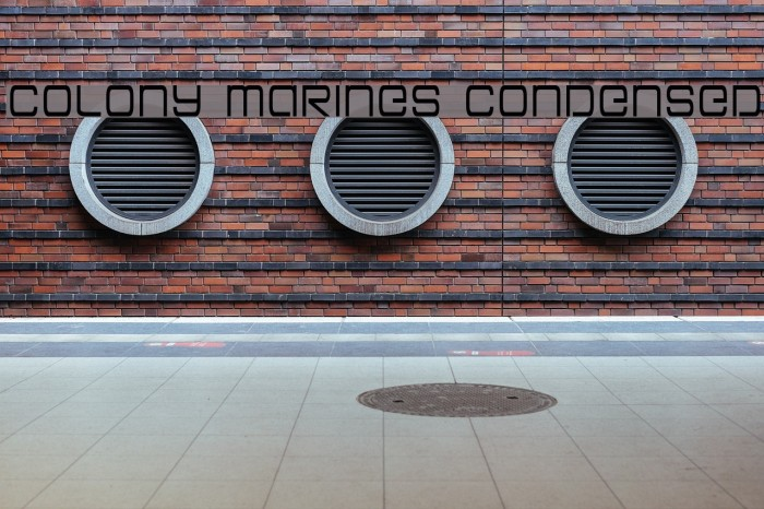 Colony Marines Condensed Fonte examples