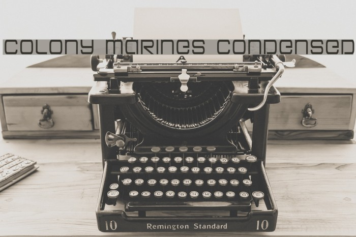 Colony Marines Condensed Schriftart examples
