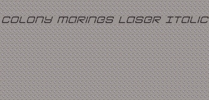 Colony Marines Laser Italic Schriftart examples