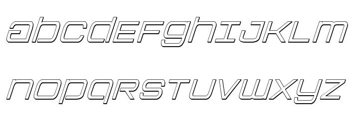 Colony Marines Outline Italic Font UPPERCASE