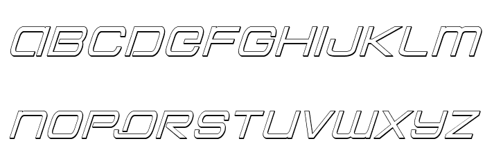 Colony Marines Outline Italic Font LOWERCASE