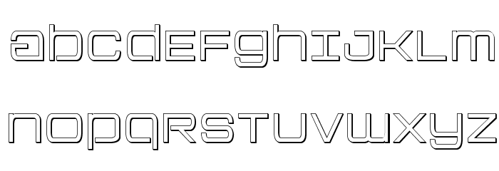 Colony Marines Outline Font UPPERCASE