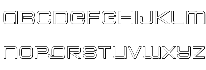 Colony Marines Outline Font LOWERCASE