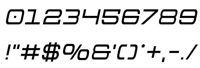 Colony Marines Semi-Italic Font OTHER CHARS