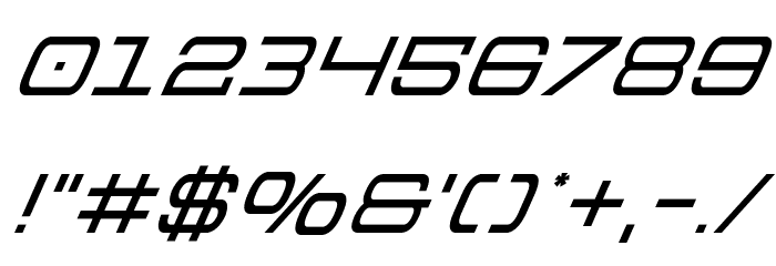 Colony Marines Super-Italic Font OTHER CHARS