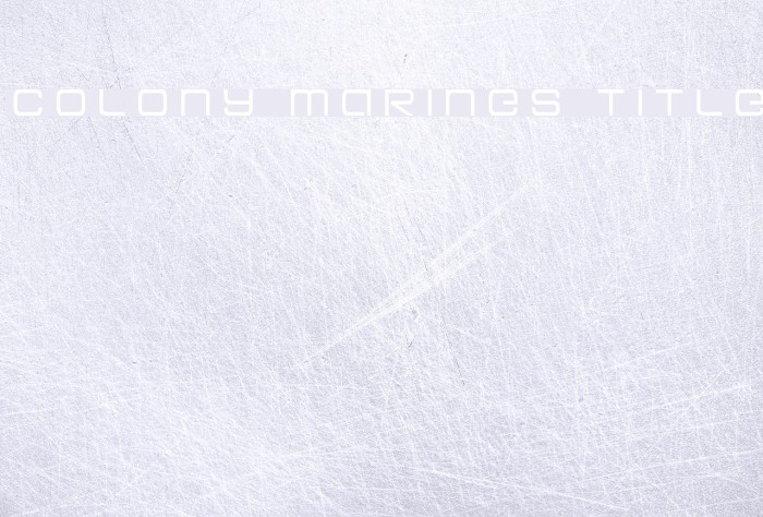 Colony Marines Title Шрифта examples