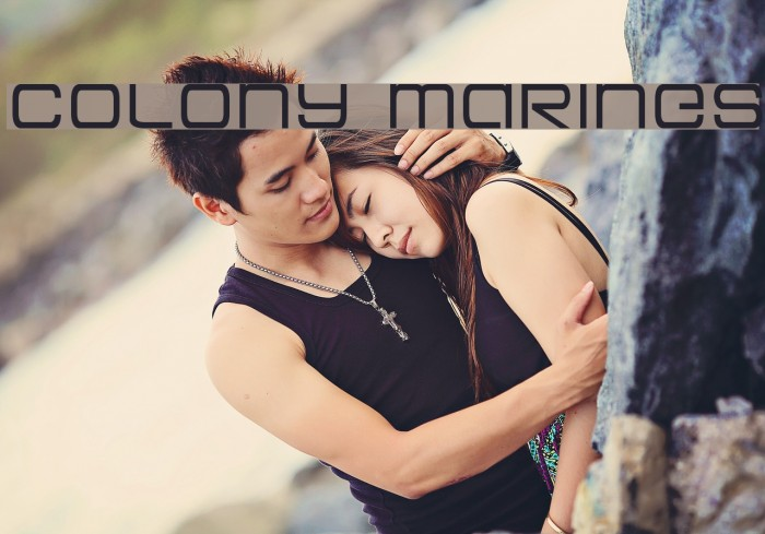 Colony Marines Fonte examples