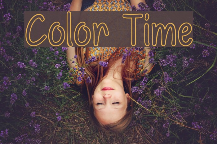 Color Time フォント examples