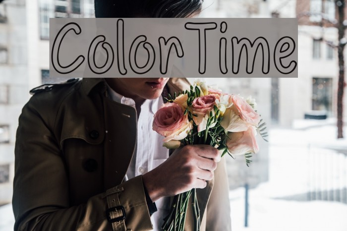 ColorTime Font examples