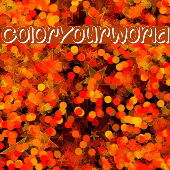 ColorYourWorld Fonte examples
