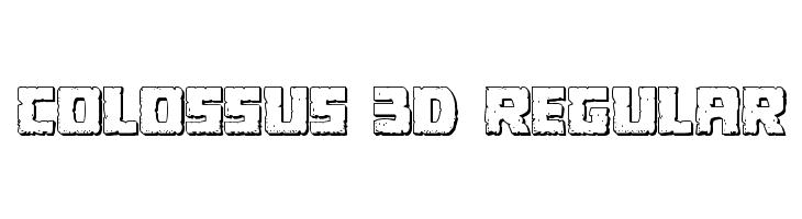 Colossus 3D Regular  Fuentes Gratis Descargar