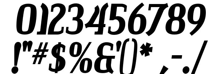 Colourbars-Bold Font Alte caractere