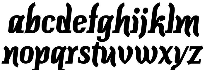 Colourbars-Bold Font Litere mici