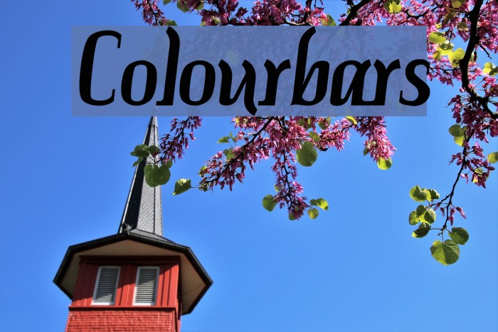 Colourbars Шрифта examples