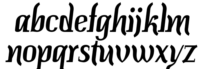 Colourbars Шрифта строчной