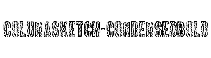 ColunaSketch-CondensedBold  لخطوط تنزيل