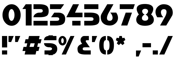 Comaro Normal Font OTHER CHARS