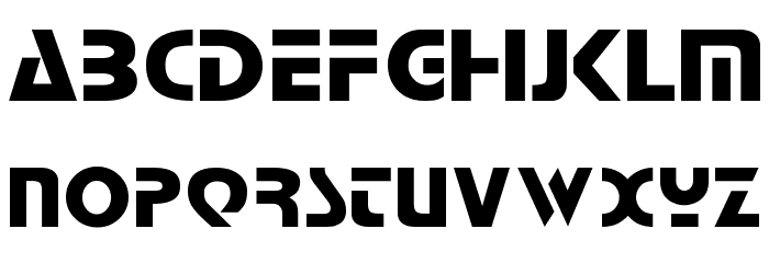 Comaro Normal Font UPPERCASE
