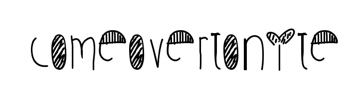 ComeOverTonite  Free Fonts Download
