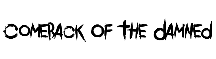 Comeback Of The Damned  Free Fonts Download