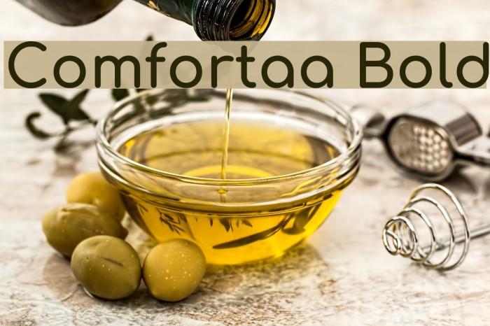 Comfortaa Bold Font examples