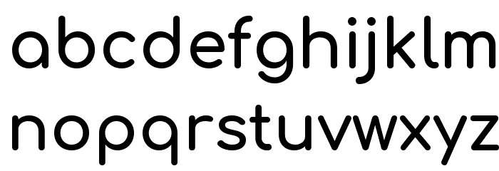 Comfortaa Bold Font LOWERCASE