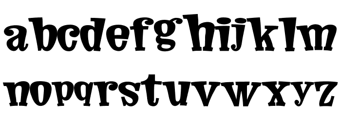 Comic Cover Font LOWERCASE