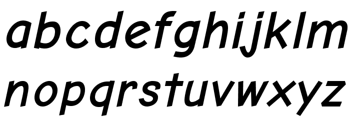 Comic Neue Angular Bold Oblique Fuentes MINÚSCULAS