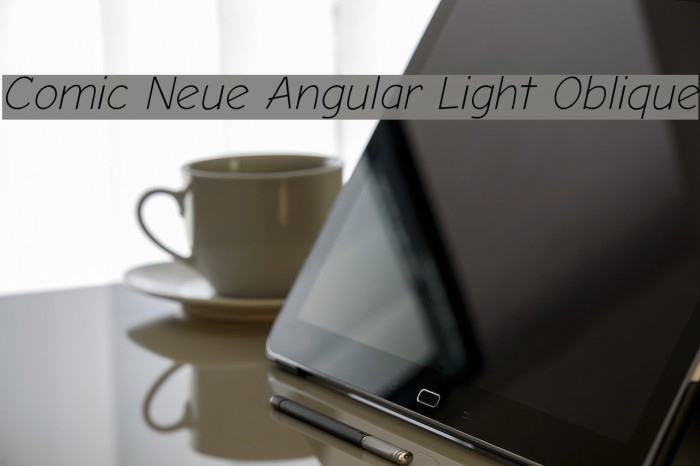 Comic Neue Angular Light Oblique フォント examples