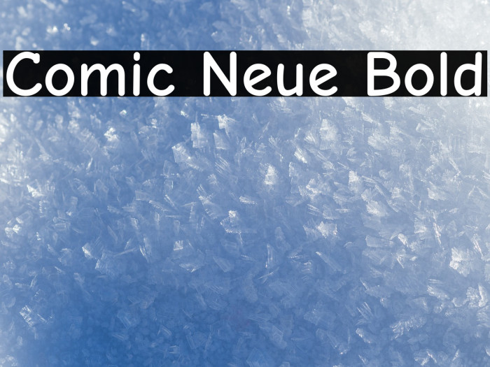 Comic Neue Bold Font examples