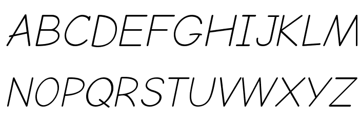 Comic Neue Light Oblique Font UPPERCASE