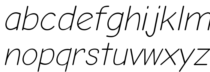 Comic Neue Light Oblique フォント 小文字