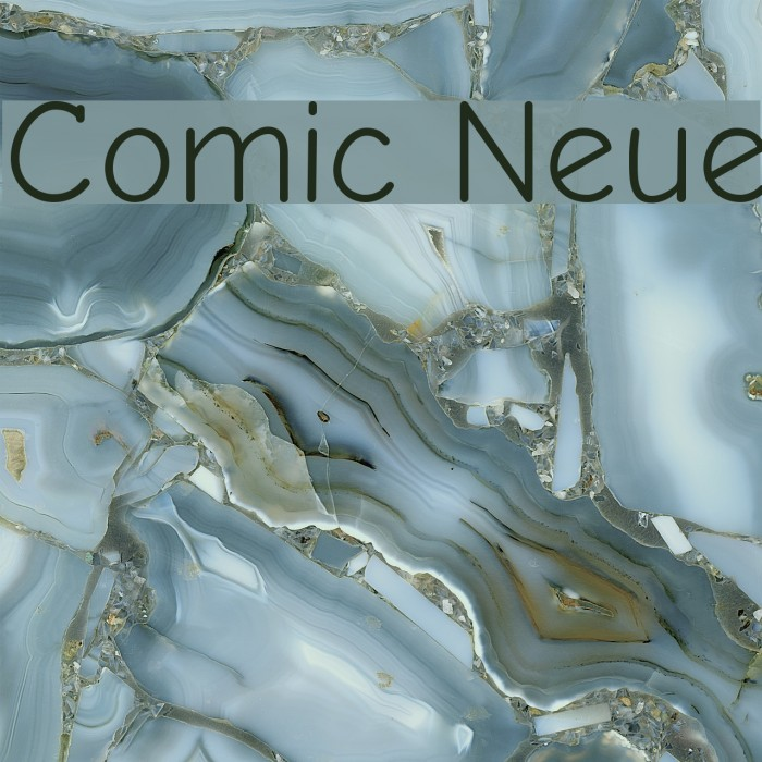 Comic Neue フォント examples