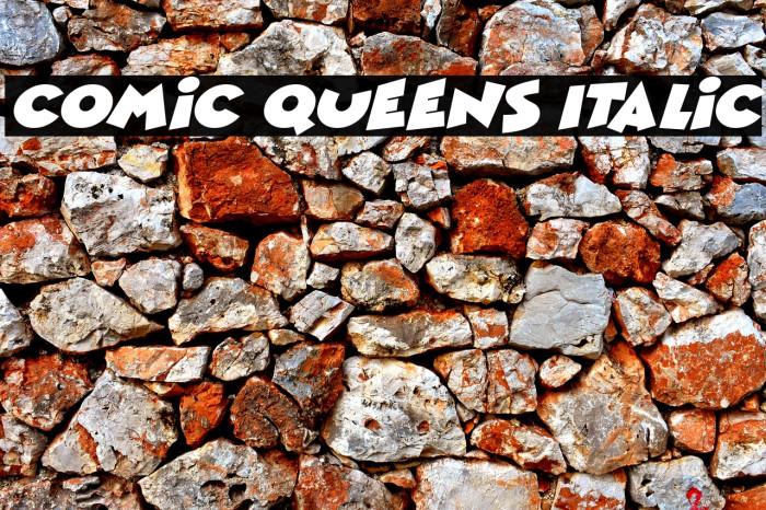 Comic Queens Italic Fonte examples