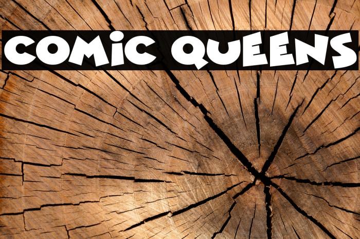 Comic Queens Schriftart examples