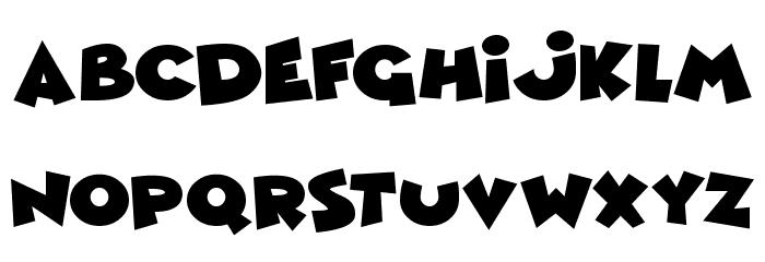 Comic Queens Schriftart Kleinbuchstaben