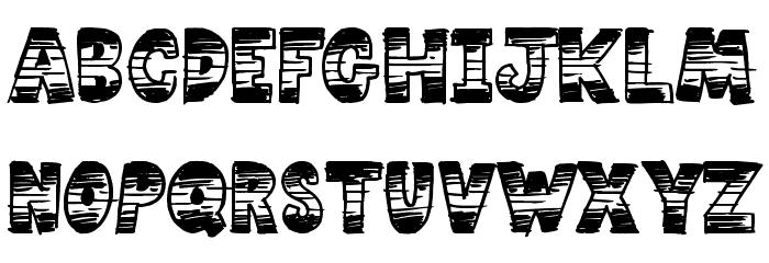 Comic Strip Font LOWERCASE
